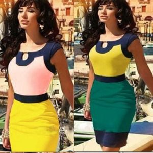 Dresses & Skirts - CLEAR OUT SALE!  🙀🎀Color Block Bodycon Dress