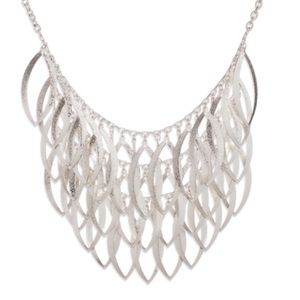 Silver 3 Layer Shiny Emanuelle Necklace