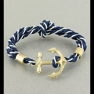 Striped Anchor Bracelet