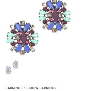 J. Crew blue crystal shimmer earrings.