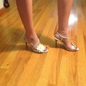 Spring Ready? Mint-Neutral Strappy Sandal Heel