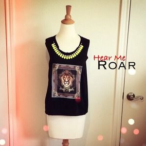 Black Lion Jersey Muscle Tank + Necklace