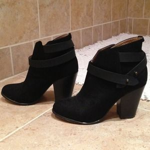 Shoes - Suede style booties WORN ONCE