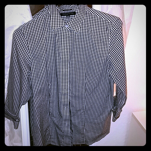 Jones new york tops jones new york signature dress shirt for Jones new york no iron easy care boyfriend shirt
