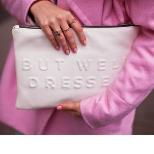 Zara Clutches & Wallets - Zara stressed but well dressed white clutch