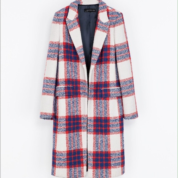Zara - SOLD! Zara Red Blue Checked Coat size XS from Y's closet on ...