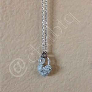 Jewelry - Silver Heart Lock & Key Long Necklace.