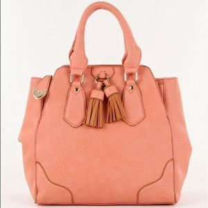 Pretty Blush/Salmon Satchel
