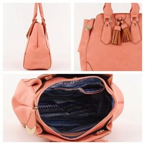 Bags - Pretty Blush/Salmon Satchel 4