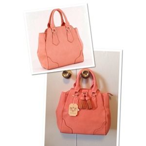 Bags - Pretty Blush/Salmon Satchel 2