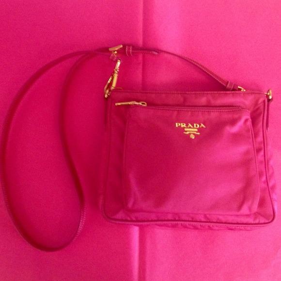 9eaa21c28284 Prada Bags | Authentic Hot Pink Crossbodymessenger | Poshmark