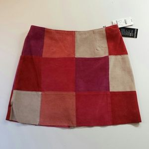 Express Dresses & Skirts - SOLD Suede Patchwork Skirt