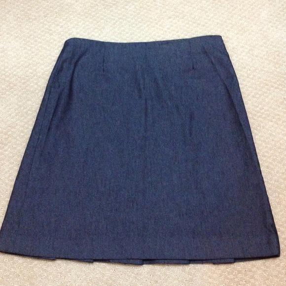 Zara Denim Pleated Skirt 10