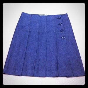 Zara pleated skirt. Denim color. Size 6