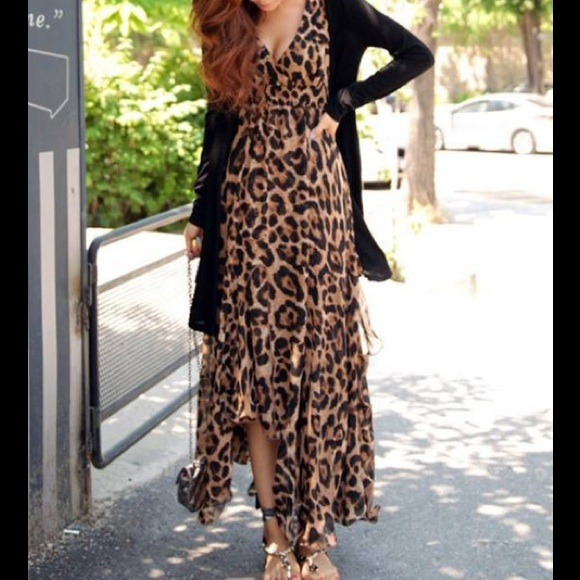 Leopard maxi dress! S,M,L from ! stephanie's closet on Poshmark