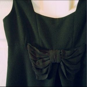 SOLD - Zara Little Black Bow Dress - Size S
