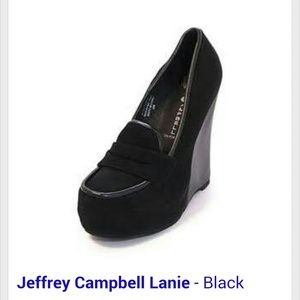 Jeffrey Campbells 'Lanie' loafer wedge
