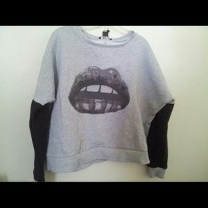Black and White Lips Sweater