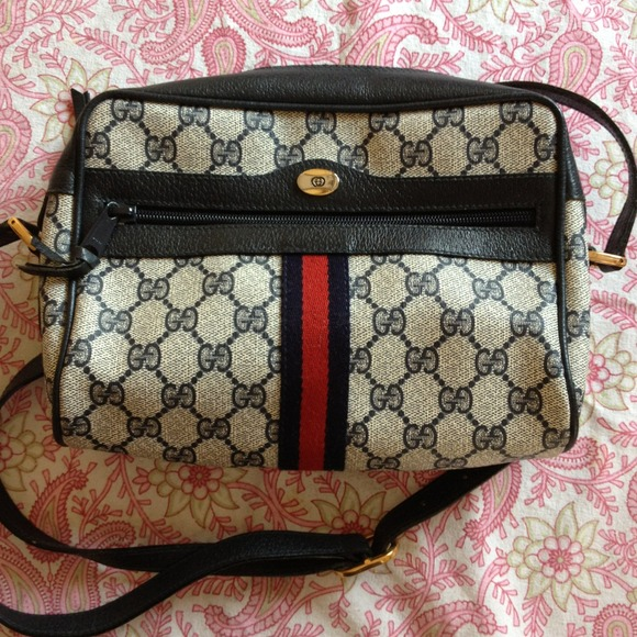 6fdcc6864f68 Gucci Handbags - Vintage Gucci crossbody bag, late 70s, early 80s.