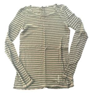 Martin & Osa  Tops - SOLD Olive & Green Stripe Shirt