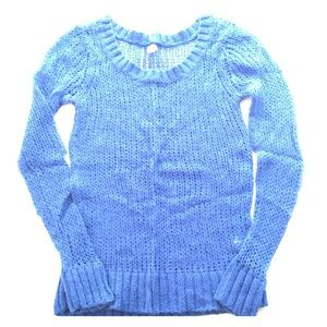 aerie Sweaters - SOLD Blue Open Weave Sweater