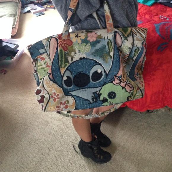 74% off Disney Handbags - Tokyo Disneyland LILO Stitch Tapestry ...