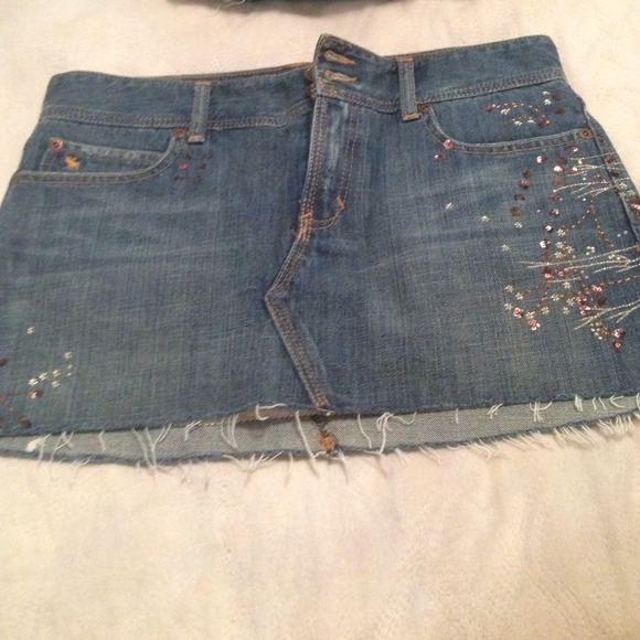 abercrombie fitch abercrombie fitch denim skirt from