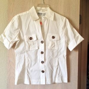 NWT Fitted button down shirt