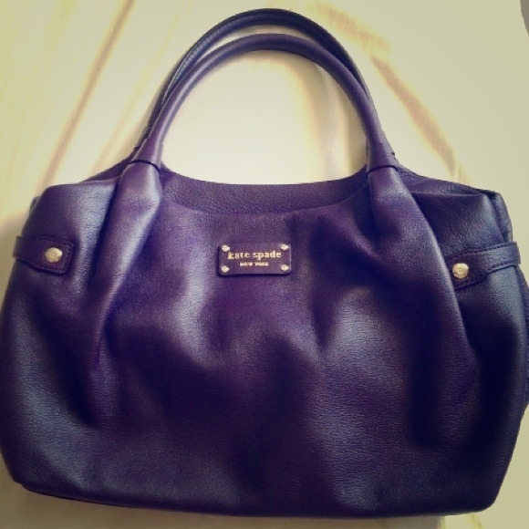kate spade Handbags - Authentic Eggplant purple leather Kate Spade bag