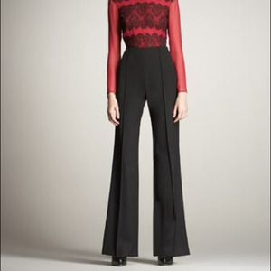 Jason Wu Bi-Stretch Black Tux Trousers 6 NWT.