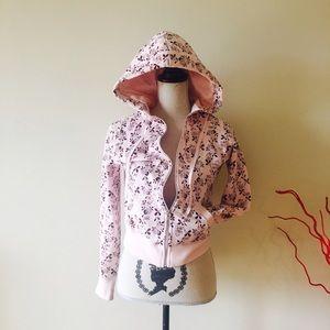 LFL Jackets & Blazers - Pink. Hoodie jacket. Floral allover print.