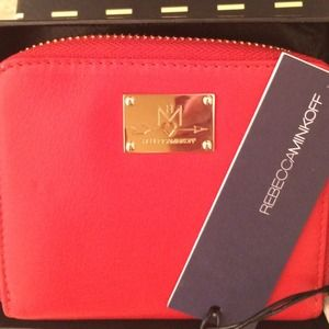 REBECCA MINKOFF Red Small Zip Wallet
