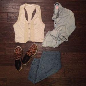 Jackets & Blazers - Cream colored vest W5