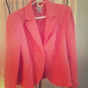 Jackets & Blazers - Salmon colored Blazer. Perfect for Spring!