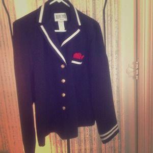 Jackets & Blazers - Navy nautical jacket
