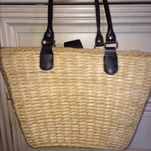 28b112bb0c borghese Handbags - Straw handbag - beach bag