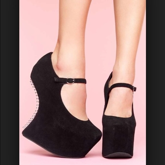 Jeffrey Campbell Shoes | Night Nail Black Suede | Poshmark