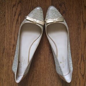 kate spade Shoes - Worn once! KSNY gold flats