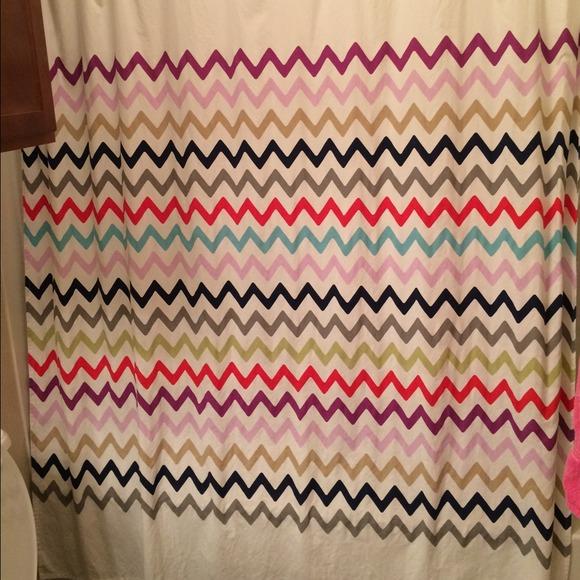 Emejing Multi Color Chevron Shower Curtain Images - 3D house ...