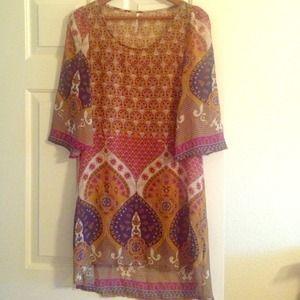 little miss Dresses & Skirts - Patterned tunic/dress