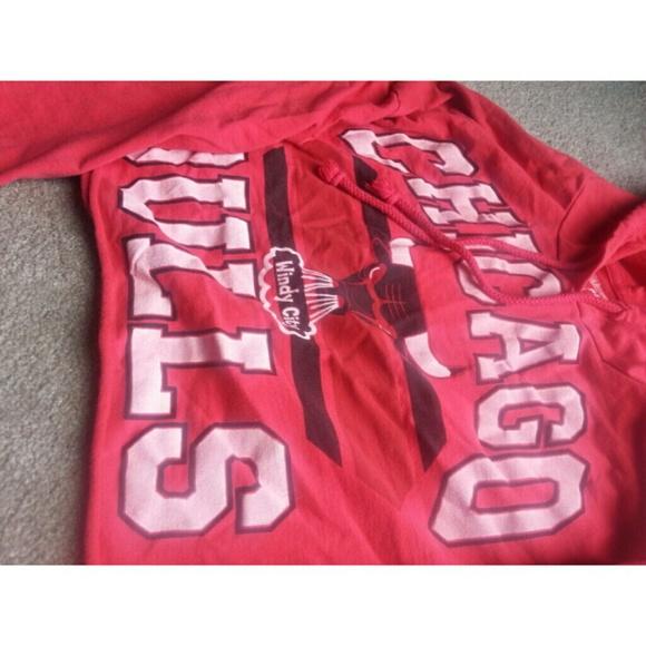 Chicago Bulls Crop Top Hoodie Chicago Bulls Crop Sweater