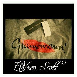 L'Wren Scott Tops - Lwren scott Glamourama graphic tee gray glitter L