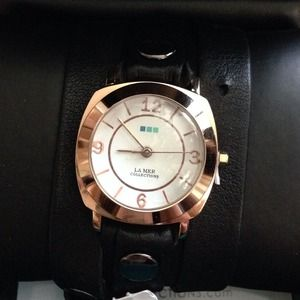 La Mer Collections Black Odyssey Wrap Watch