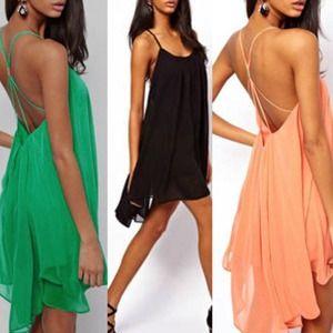 Dresses & Skirts - 1 Black and 1 peach sundress