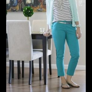 Amanda + Chelsea Pants - Sold in Bundle | Cropped Turquoise Pants