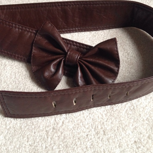 67 accessories brown bow belt medium from