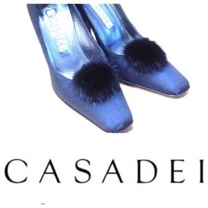 casadei Shoes - HARD TO FIND!  Casadei fur pump shoes almost NEW!