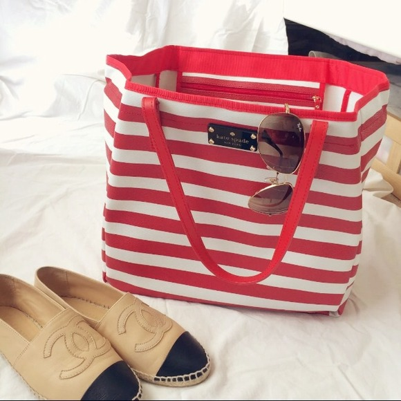 kate spade Handbags - Kate spade striped nautical tote bag!