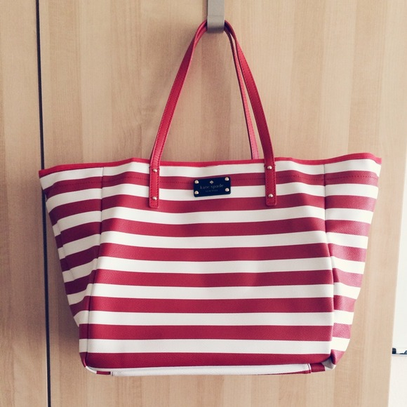 kate spade Handbags - Kate spade striped nautical tote bag! 4