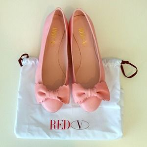 Valentino Shoes - Host Pick- Authentic Valentino Red Scalloped Flats